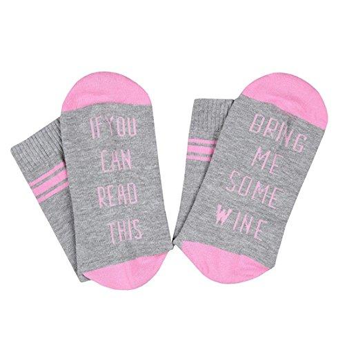GZHOUSE nieuwigheid sokken, als je dit kunt lezen, breng me een wijnkoffie bier-katoenen sokken mannen vrouwen funky panty voor feestjes verjaardagen of vader cadeau