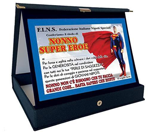 Bombo Placa premio Nonno Superhéroe