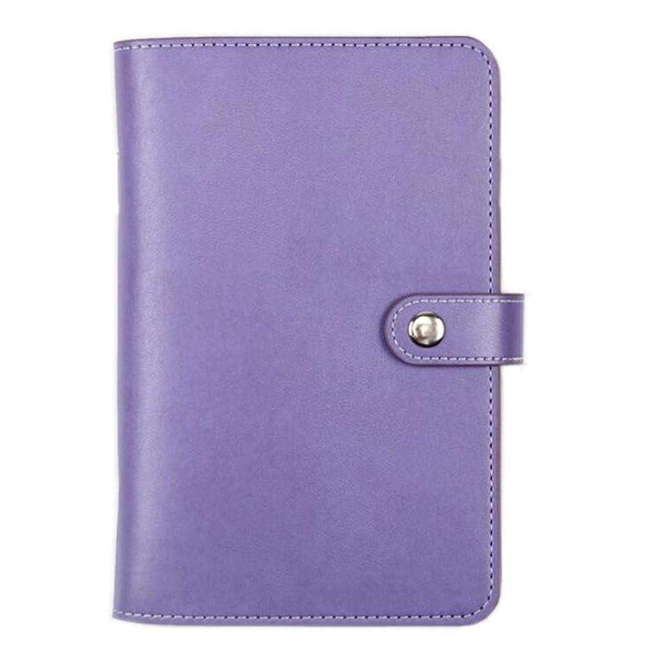 書き込み ノートブックA6、ハンドブックルーズリーフオフィススモールノートブックレトロクリエイティブハンドアカウント日記、2個 学生の (Color : Purple)