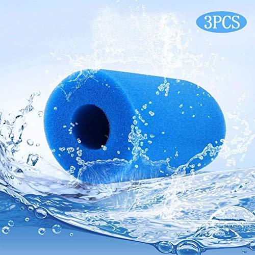 3PCS Filterpatrone Schwamm, for Typ A Filter Pool Filter Reinigungsgeräte Schaum, Wiederverwendbare waschbare Schwamm Patrone Schaum (20 * 10 * 4 cm) zcaqtajro