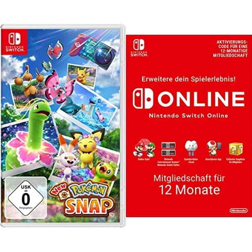 New Pokémon Snap [Nintendo Switch] + Nintendo Switch Online Mitgliedschaft - 12 Monate   Switch Download Code