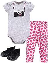 Little Treasure Baby Cotton Bodysuit, Pant and Shoe Set, Camera, 3-6 Months