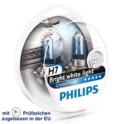 Philips Crystal Vision Ultra 12972CVUSM Duo E1 - Bombilla H7 (2 unidades, 4300 K, efecto xenón, W5W BVU)