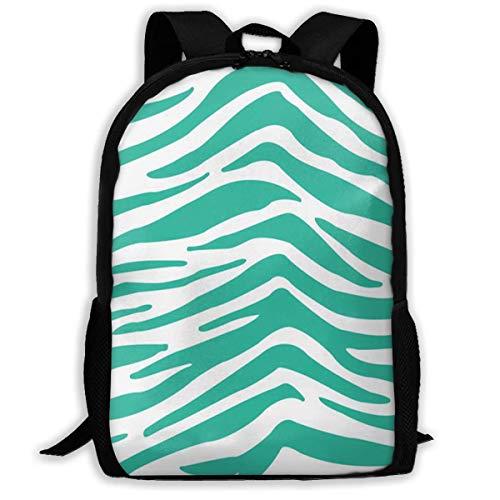 NA Rugzak Voor Meisjes Jongens Cool Zebra Groen Rits School Bookbag Dagtas Reizen Rugzak Gym Tas Voor Man Vrouwen