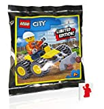 LEGO Construction Worker Minifigure with Bulldozer (Limited Edition Foil Pack)