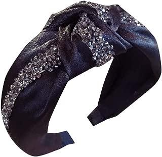 Women's Cloth-Studded Drill Strip Headband,Suma-ma Girls Knotted Bow Hairband Head Wrap Hair Band Accessories