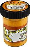 TFT FTM Trout Finder Bait Big Banana Glitter Pasta 50 g Naranja - Flotante para pesca de truchas