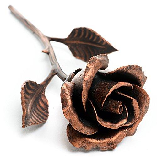 Rosa Eterna Hierro Forjado (color cobre) - Regalo Único Que Dura Para