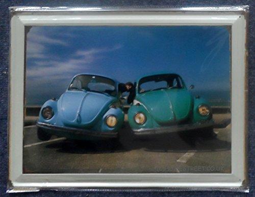 Volkswagen Kever Klassieke Liefde Bug Grote Retro Foto Teken Met Kussen Paar