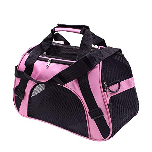 Macallen Tragetasche Hund Transporttasche Katzentasche Hundetransporttasche Transporttasche Katze Katzentragetasche Katzentransporttasche 52 x 27 x 32 Zentimeter (Rosa)