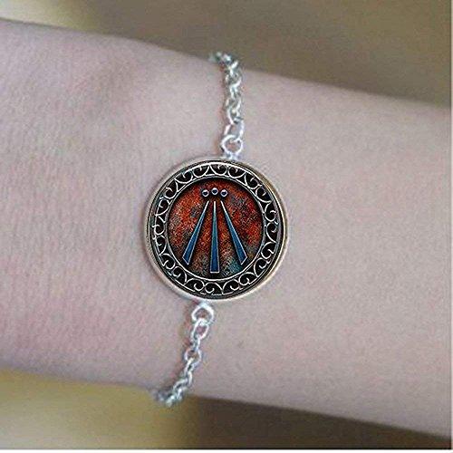 Awen Symbol Druid Pulsera, regalo diario pulsera