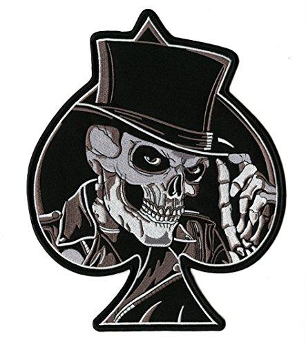 Patch de boné Skeleton Spade | Grande caveira bordada - por Nixon Thread Co. (25,4 cm)