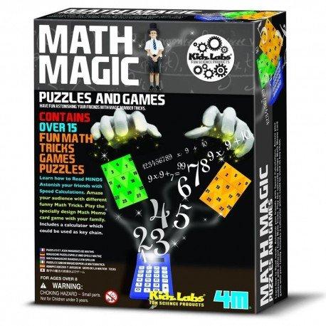 4M - Coffret de tours de Magie Kit Magic Math 15 tours pour les enfants de 8 ans +