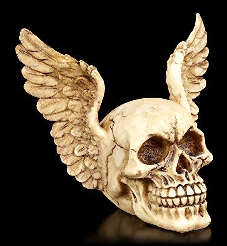 Figur Totenkopf mit Flügeln - Wings of Heaven | Gothic Fantasy Deko