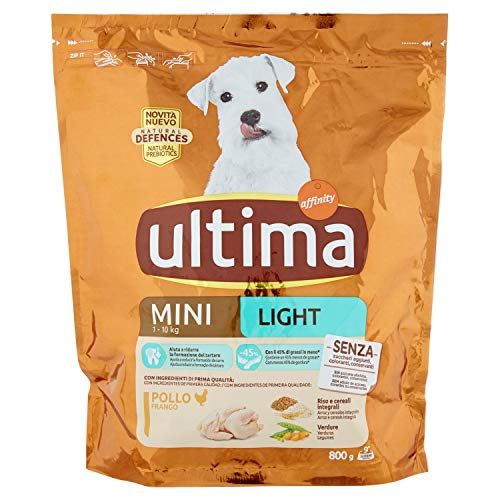 Ultima Crocchette Mini Light Pollo per Cani, 800g