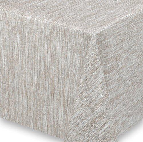 WACHSTUCH Tischdecken Meterware abwischbar LFBG, Reliefdruck Georginias Beige, Größe wählbar (100x140 cm)