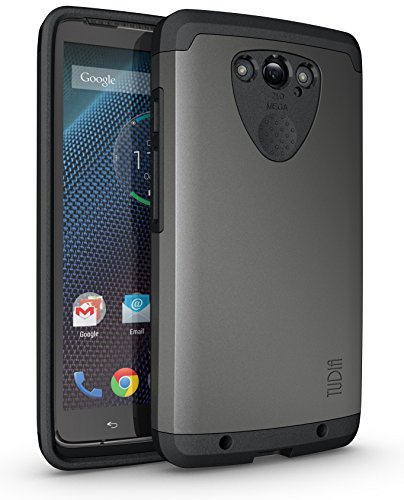 TUDIA Slim-Fit CYGEN Dual Layer Protective Case for Motorola Droid Turbo (Verizon) (NOT Compatible with Ballistic Nylon Version) (Metallic Slate)