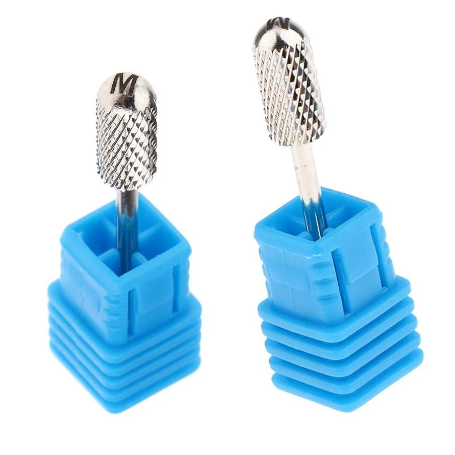 自分のゴールド創造CUTICATE ネイルドリルビット 研削ヘッド マニキュアドリルビット 爪やすり ネイル道具 2個