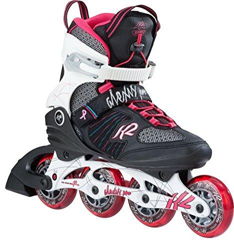 K2 Damen Inline Skates ALEXIS Pro 84 - Schwarz-Weiß-Rot - EU: 36 (US: 6 - UK: 3.5) - 30B0114.1.1.060