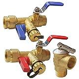 SNOWINSPRING Kit de VáLvula de Servicio de Calentador de Agua Sin Tanque con Aislador IPS de 3/4 Pulgadas, con VáLvula de Alivio de PresióN, LatóN Limpio
