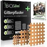 BACKLAxx 140x Crosstape in colore della pelle e 3 Misure - Cross Tape Kinesiologico con una forte presa - Cerotti per Agopuntura, Taping Kinesiologico (Beige - Mix)