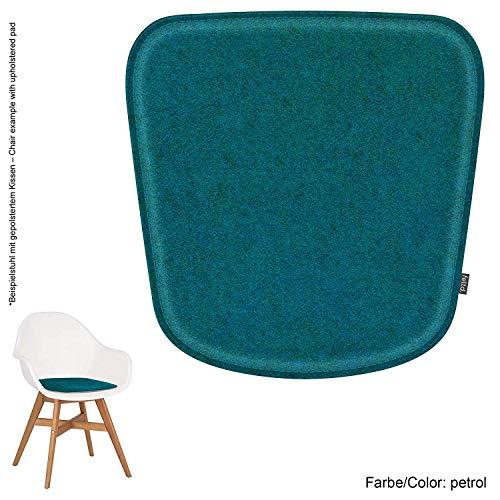 Feltd.Eco Filz Kissen geeignet für IKEA Fanbyn (mit und ohne Armlehne) - 29 Farben - optional gepolstert und mit Antirutsch(Petrol)