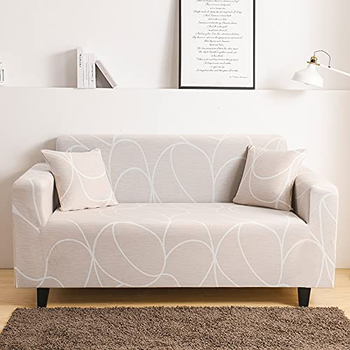 Funda de sofá elástica elástica Ajustada Ultra Spandex Funda de sofá para Sala de Estar Funda de poliéster Funda de sofá Profunda A19 1 Plaza