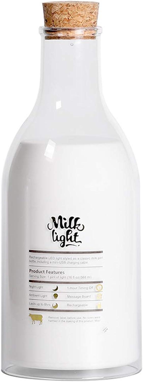 Limeinimukete USB Lade LED Milchflasche Nachtlicht Wischen Marker Nachttischlampe Dekoration B07JLS6YZQ  | Verwendet in der Haltbarkeit
