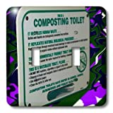 3dRose LSP 56509 2 This is A Composting Toilet Sign in A Bathroom