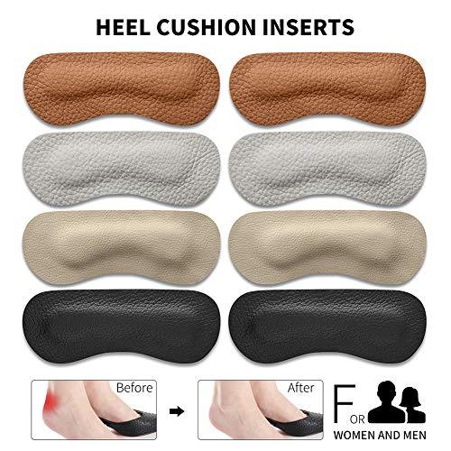 EQARD Heel Cushion Pads - Thick Heel Grips Liner Insert...