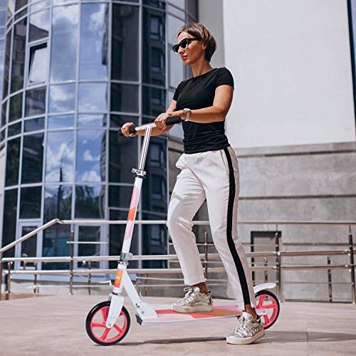Adult Scooter, Kick Scooter Street Push Scooter Lightweight Easy Folding with...