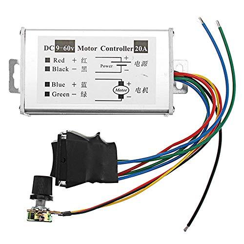 Módulo electrónico DC 9-60V 20A 1200W de alta potencia de la velocidad del motor controlador de velocidad del regulador de anchura de pulso modulador de control interruptor de velocidad ajustable 3pcs