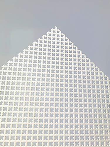 Stahl Verzinkt Kleeblatt Lochblech Weiß Pulverbeschichtet Stahl 1,5 mm dick Zuschnitt nach Wunschmaß (1000 mm x 500 mm)