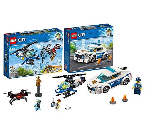 LEGO 60207 City Polizei Drohnenjagd, bunt 60239 City Streifenwagen, bunt