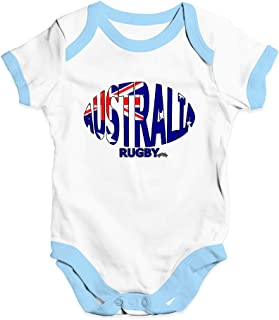 Baby Grow Baby Romper Australia Rugby Ball Flag