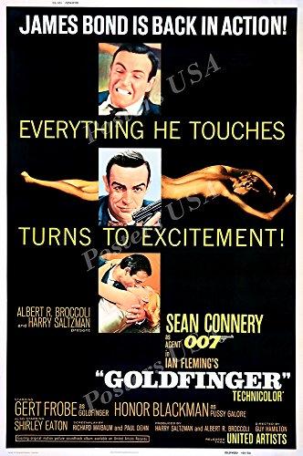 Posters USA - 007 Goldfinger James Bond Movie Poster GLOSSY FINISH - MOV187 (24' x 36' (61cm x 91.5cm))