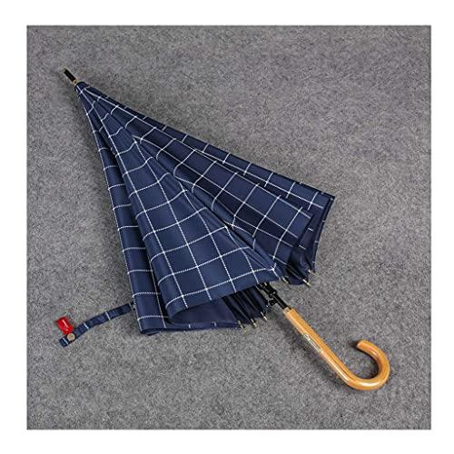 QFUNDAS Anti-UV Paraguas de Mango Recto Creativo Retro A Prueba de Salpicaduras Hogar A Prueba de Viento Lluvioso Paraguas de Mango Largo Plegable/B