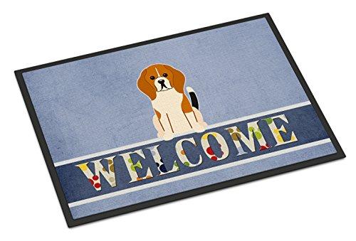 Caroline Tesoros del bb5621mat Beagle Tricolor Welcome Felpudo, 18x 27, Multicolor