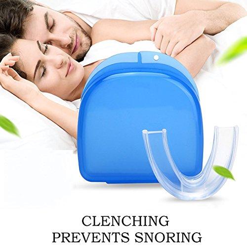 HZHEN Mundschutz Gegen Zähneknirschen Und Kiefergelenksentlastung, Verhindert Nächtliches Zähneknirschen, Zusammenbeißen Und Bruxismus
