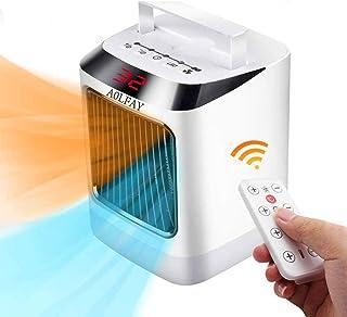 Calefactor Termoventiladores y calefactores cerámicos 3 Modos de contra Viento 2 Protección de Seguridad Apagado Automático, Calentador Habitación, Calefacción