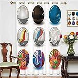 Cortinas opacas de perlas de diferentes mármoles con materiales de vidrio y porcelana como burbujas ...