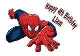Spiderman–Décoration pour Gâteau personnalisée Glaçage Sucre Papier A4image W