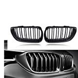DYBANP Grille Grill para BMW E46 4 Puertas 4D 3 Series 2002 2003 2004 2005 Car Styling Gloss Black Front Kidney Double Slat Grill Grille Reemplazo