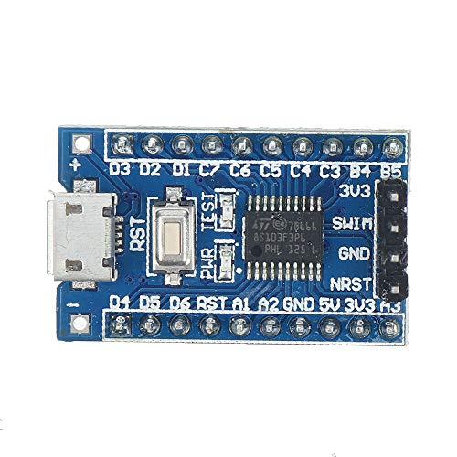 Módulo electrónico Tablero de desarrollo de la placa central con la interfaz Micro USB y el puerto de natación STM8S103F3 STM8 Equipo electrónico de alta precisión