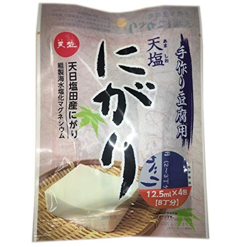 天塩 手作り豆腐用 天塩にがり4包入り<12.5ml×4包> 12個