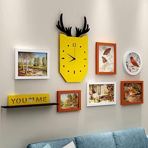 VSander Dekorative Malerei Kombination/Wandmalerei Wohnzimmer Malerei Sofa Wand/Moderne Minimalistische Restaurant Kreative Wandbild (Color : Brown)