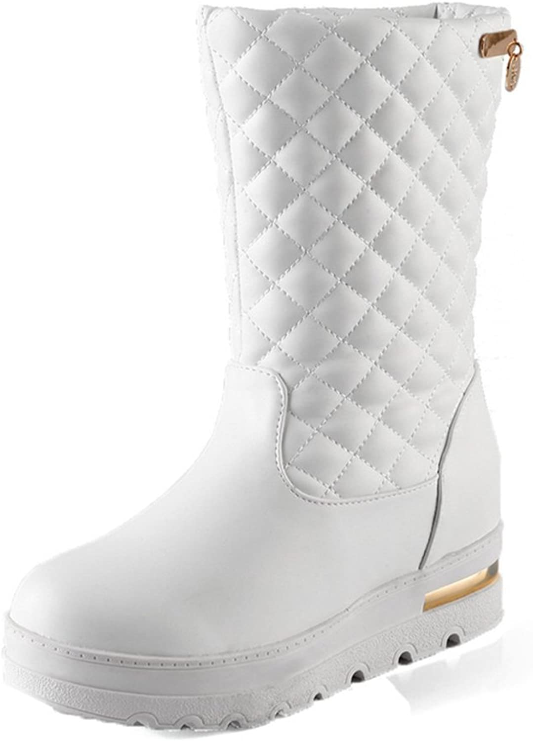 RHFDVGDS autumn and winter flat boot boots in the students '  warm snow boots Platform slip ladies low boots