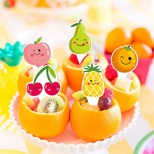 Fruit Birthday Party Decoration Kit, Summer Fruit Happy Birthday Banner Watermelon Pineapple Balloons for Tropical Themed Baby Shower Party Supplies