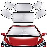 EZONTEQ 6* Parasoles para Coche Todas Ventana Trasera Frontal Lado Accesorios Coche Plegable Parasol Almacenaje fácil Prevención Solar