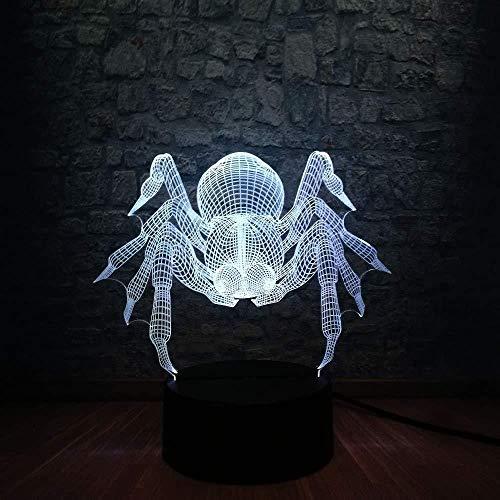 Kerstcadeaus voor vriendin, nachtlampje, 3D spiderbuik, dieren, lamp, 3D LED, USB, make-up, Halloween decoratie, huis, heks, tafellamp, 7 kleuren, tafellamp, nachtlampje met afstandsbediening